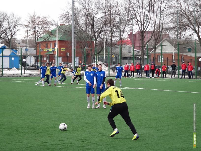 Тамбовская «Академия футбола» обыграла тульских футболистов