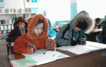 Котовские школьники замерзают на занятиях