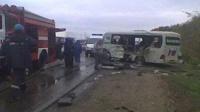 В Саратове бензовоз раздавил автобус с детьми