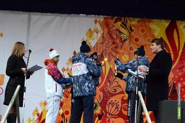Олимпийский огонь погас и в Тамбове