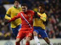 Сборная России по футболу сыграла вничью с бразильцами
