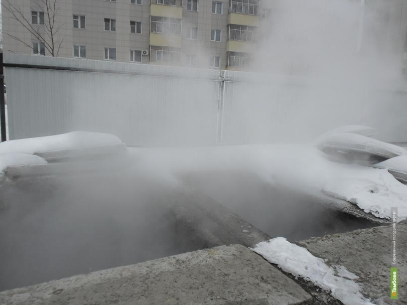 Горячая вода заливает подвалы жилых домов в Тамбове