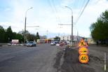 На бульваре Энтузиастов ремонтируют дорогу