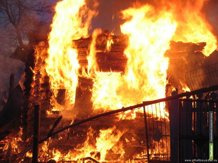 В Тамбове сгорел особняк