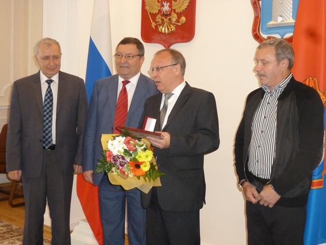 Тамбовских патриотов наградили почетными знаками и медалями
