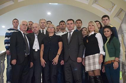 К державинцам приехали гости из Македонии