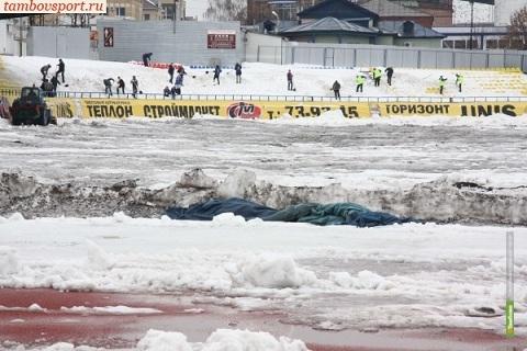 Домашний матч тамбовского «Спартака» оказался под вопросом