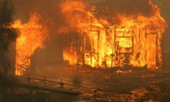 В Тамбовской области сгорели две бани