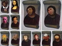 Испанцы увлеклись фотожабами на фреску с Иисусом — «волосатой обезьяной»