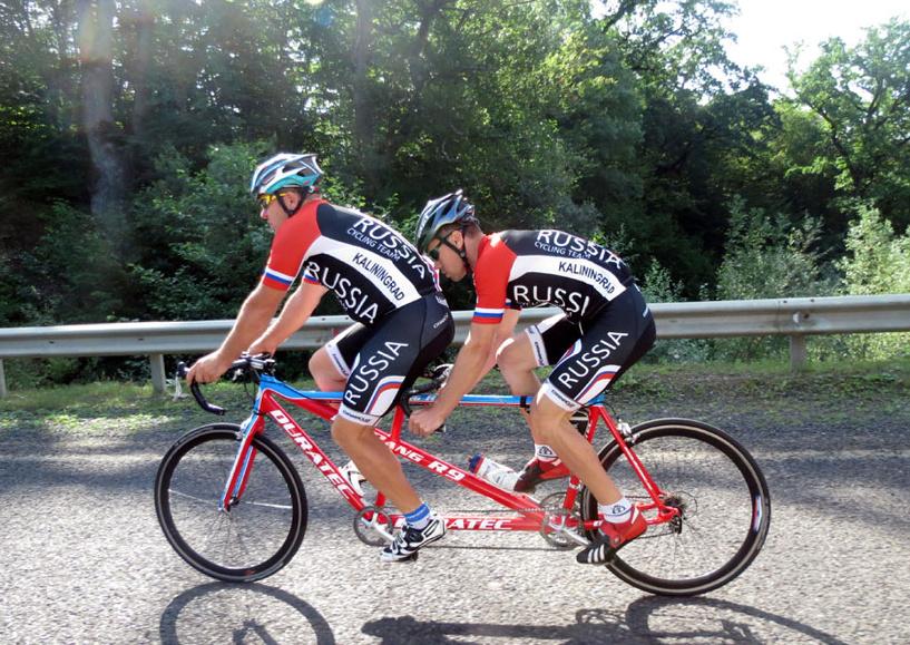 Тамбовчане-велосипедисты вернулись с Кубка мира по велоспорту тандем-шоссе