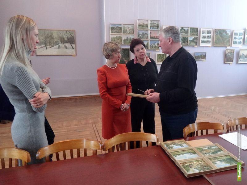 Николай Насонов открыл персональную выставку в тамбовской галерее
