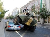 Мэр Вильнюса принял свои меры по борьбе с кривой парковкой