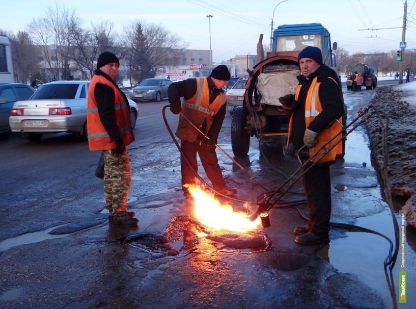 Окончание ремонта дорог в Тамбове отсрочили до середины мая