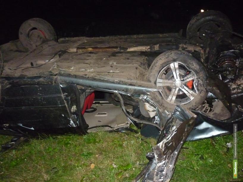 Под Тамбовом перевернулся автомобиль