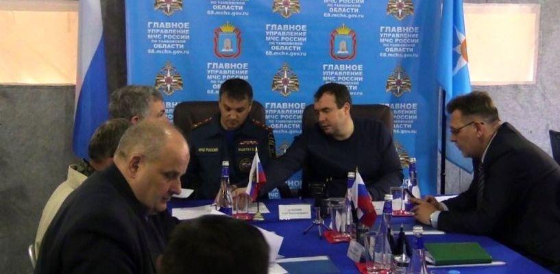 Начальник регионального МЧС лично контролирует обстановку в Моршанске