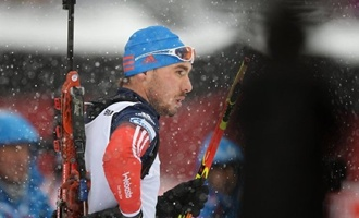 Сборная России победила в мужской эстафете на ЧМ по биатлону