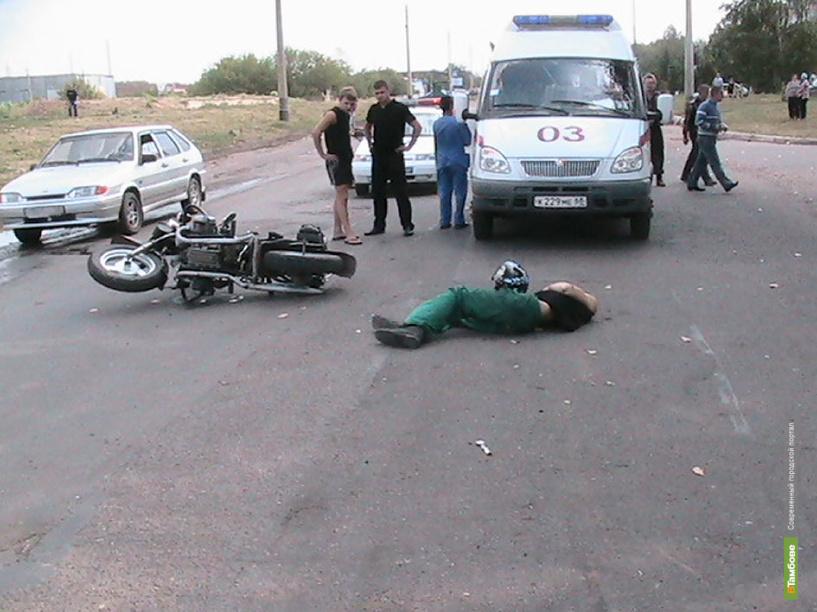 Экстремал на скутере протаранил иномарку