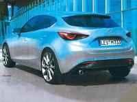 В СМИ просочились изображения Mazda3 нового поколения