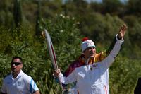 В Олимпии зажгли олимпийский огонь и передали Овечкину