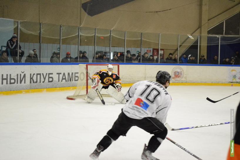 Тамбовские хоккеисты пропустили 8 шайб