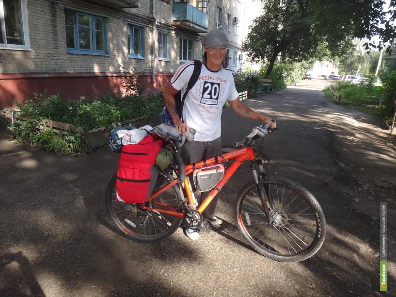 Молодой человек доехал из Калуги до Тамбова на...велосипеде