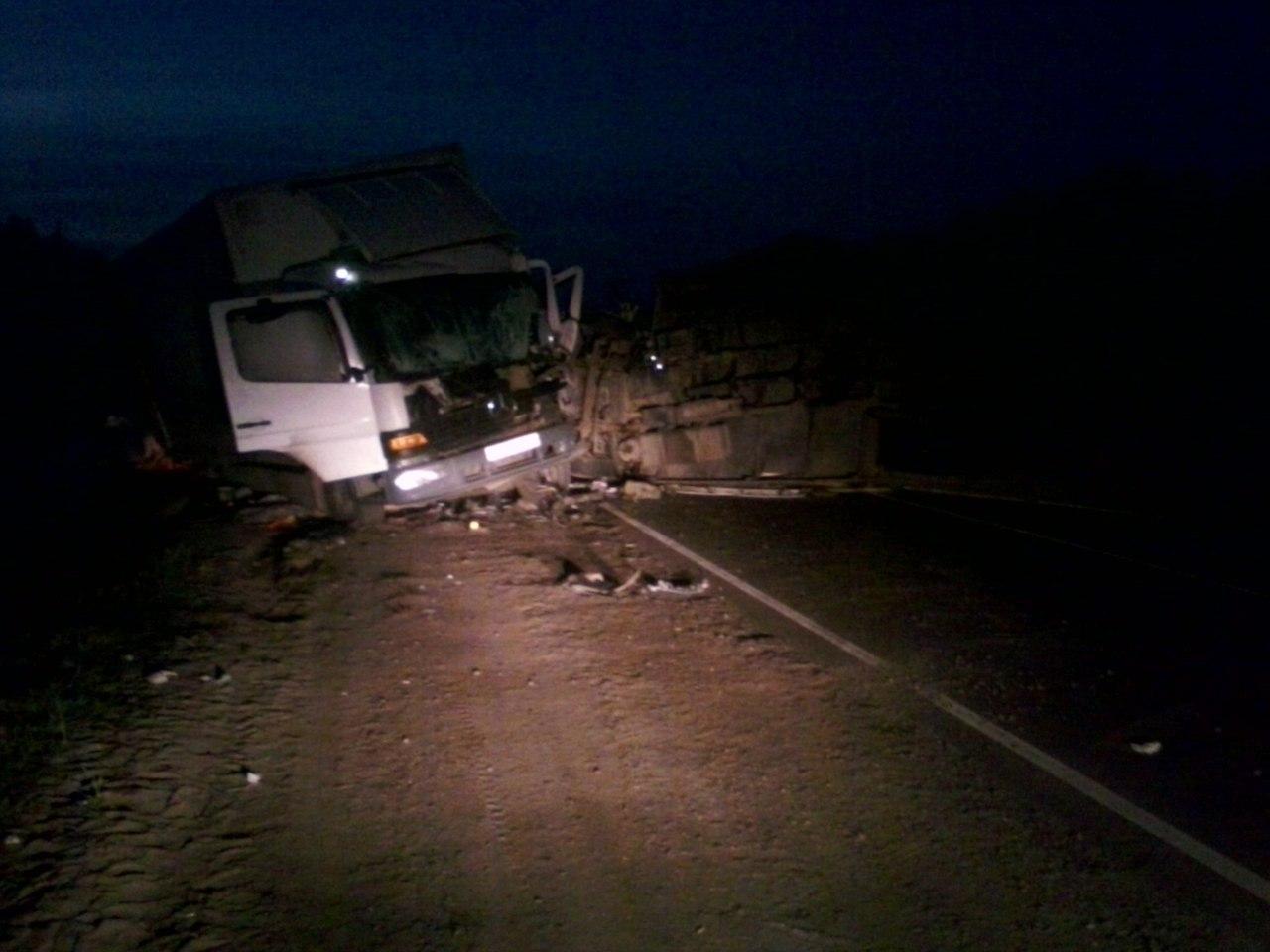 Два грузового автомобиля столкнулись натрассе Р-22 вЖердевском районе: есть жертвы