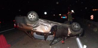 Lada Granta перевернулась на трассе в Никифоровском районе