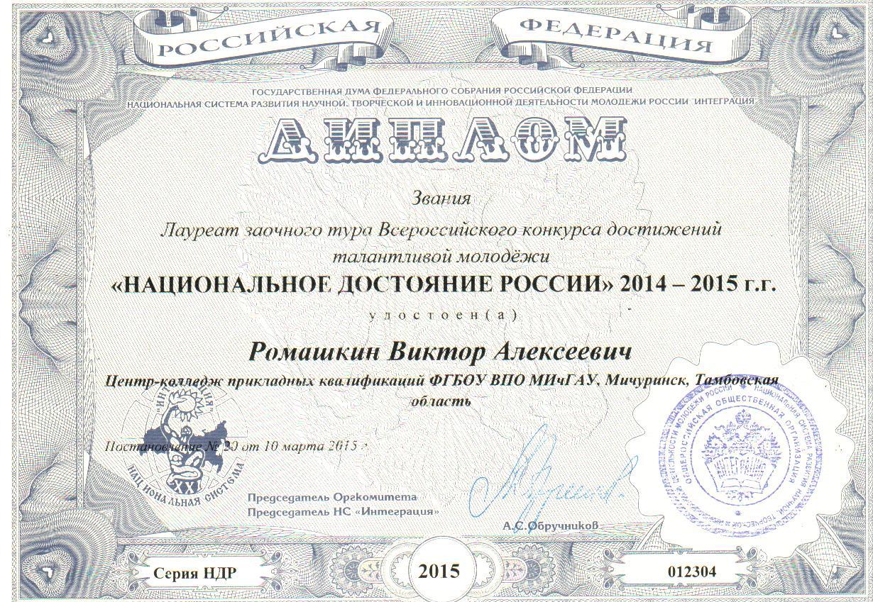 Результаты конкурса национальное достояние россии