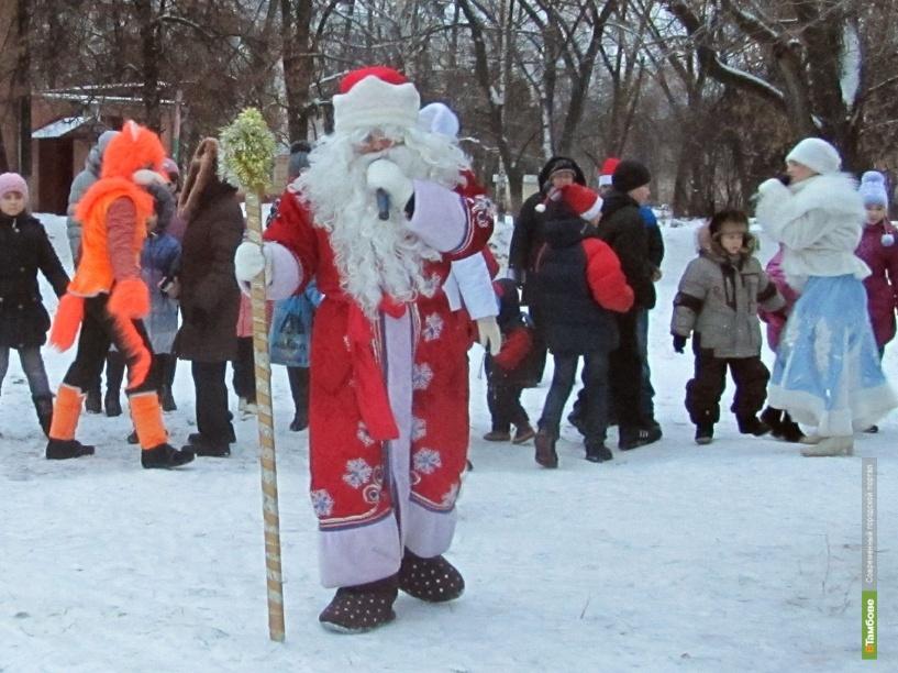 К юным тамбовчанам приехал Дед Мороз