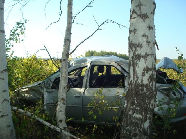 В Моршанском районе перевернулась иномарка
