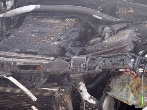 На «кольце» в Тамбове сгорело авто