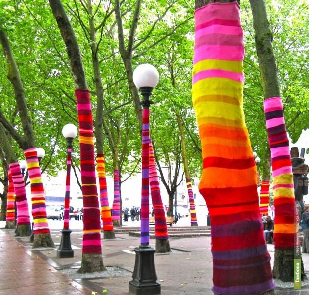 В Рассказово свяжут одежду для деревьев