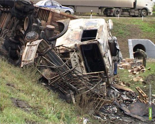 В ДТП на автодороге М-6 «Каспий» сгорели два автомобиля