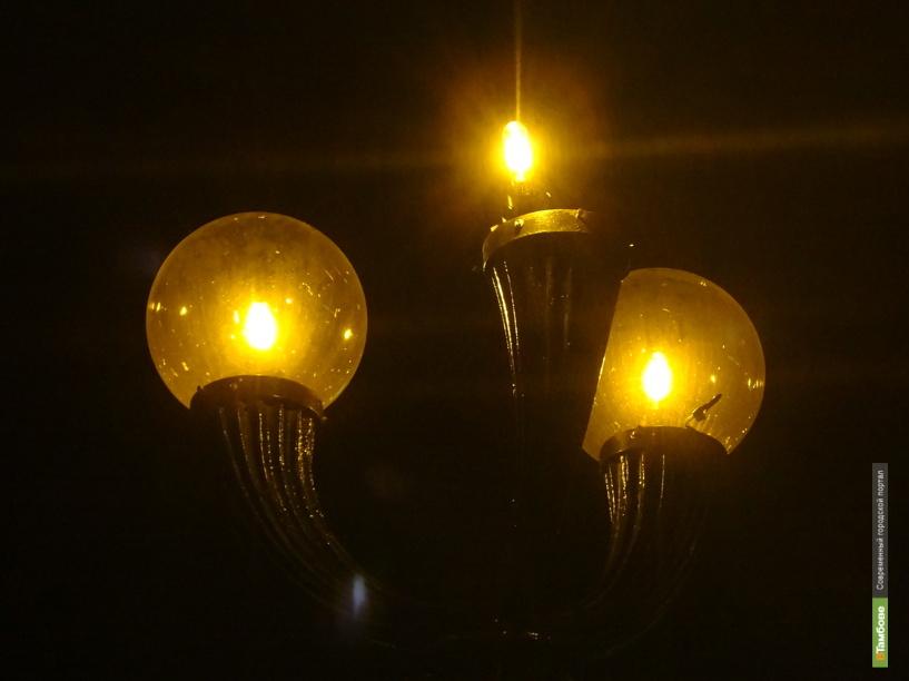 В центре Тамбова вандалы лишили «головы» один из фонарей