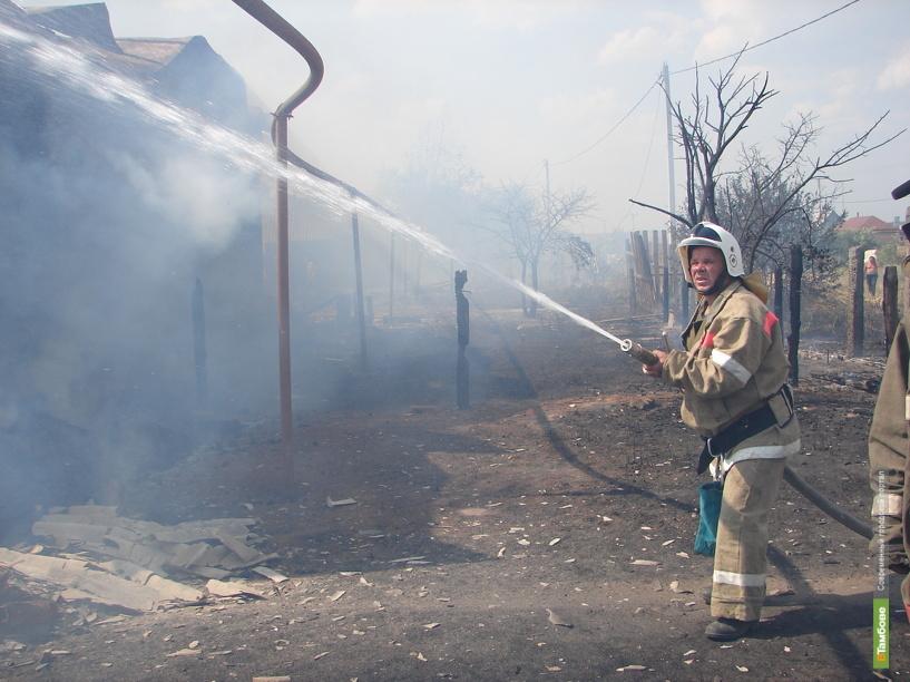 В Тамбовском районе горел жилой дом