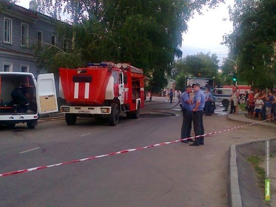 ВТамбове из-за утечки газа произошел пожар