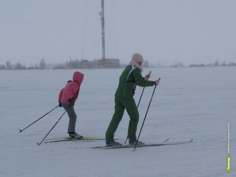 Теплая погода помешала тамбовчанам встать на лыжи