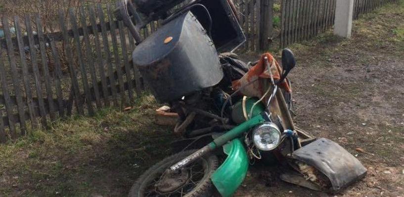 В Мичуринском районе мотоциклист улетел с дороги в кювет