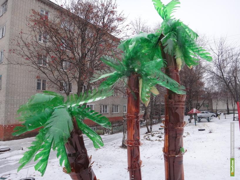 """В Тамбове под снегом """"растут"""" пальмы"""