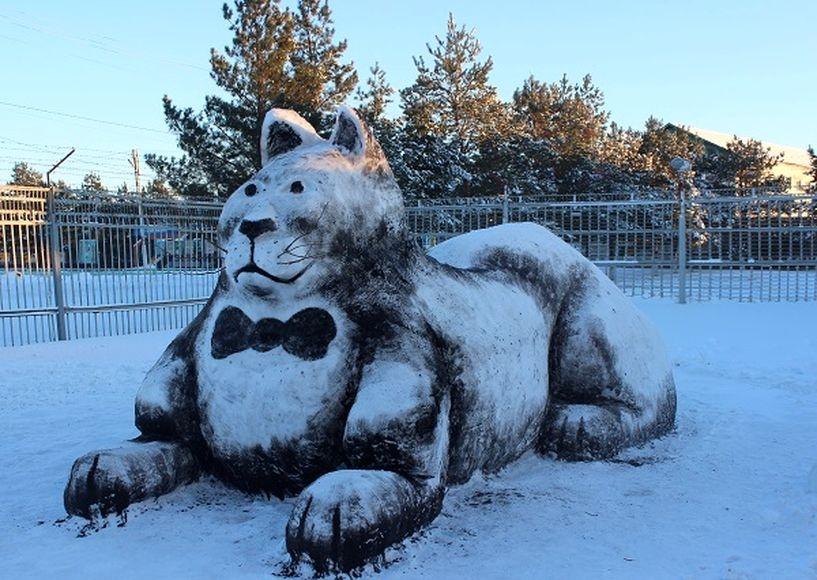 ВТамбовской области зеки слепили огромного кота