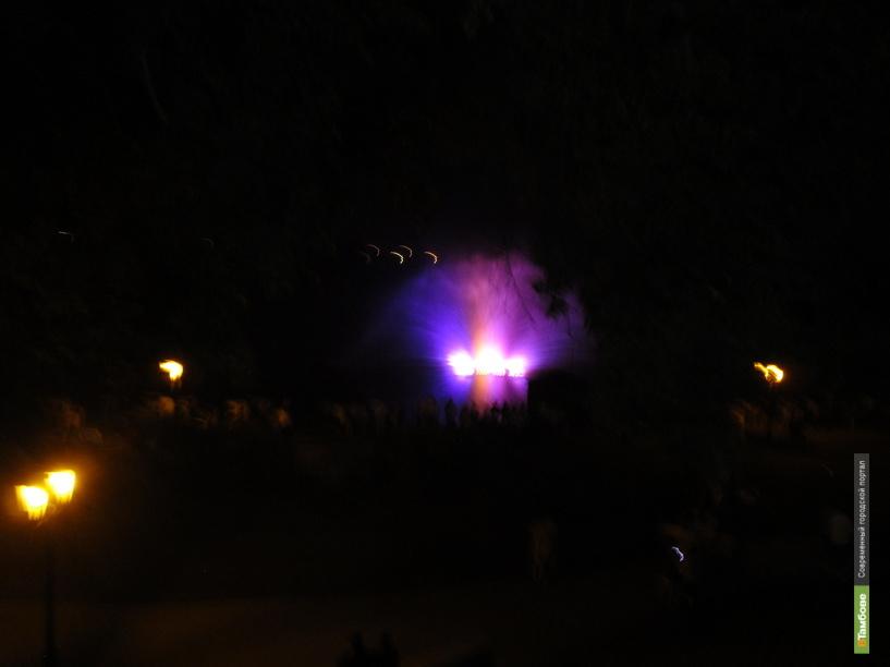 В Тамбове открыли проецирующий фонтан