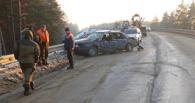 На Южном обходе иномарка врезалась в автогрейдер