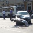 В центре Тамбова столкнулись три автомобиля