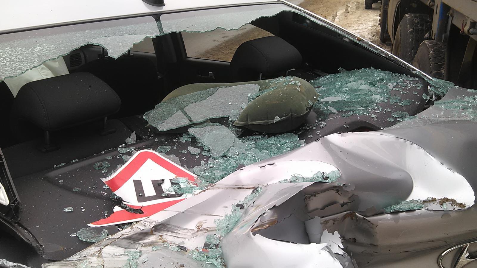 ВТамбовском районе автоледи врезалась вфургон и«КамАЗ»