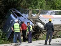 На Украине перевернулся автобус с русскими паломниками
