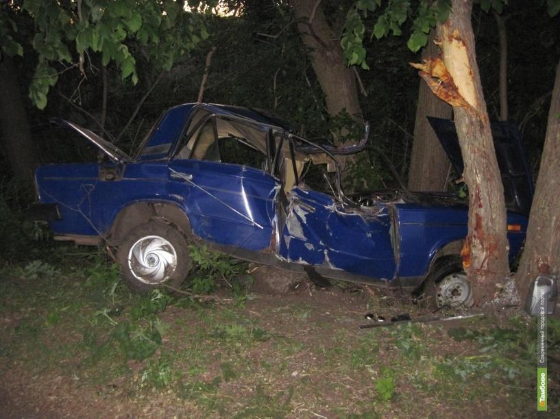 Несовершеннолетний тамбовчанин на ВАЗе врезался в дерево
