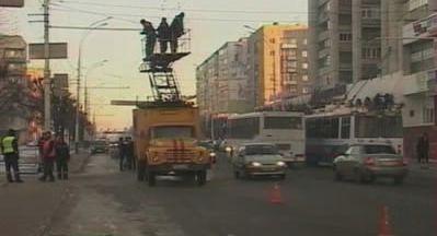 В центре Тамбова произошёл обрыв троллейбусной сети