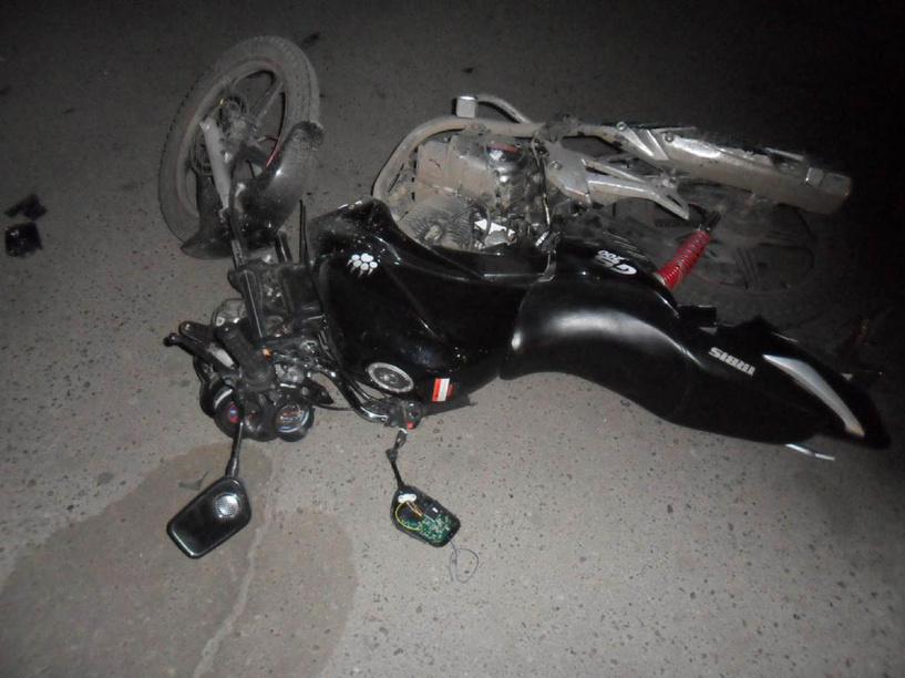 В Мичуринске столкнулись скутер и легковушка