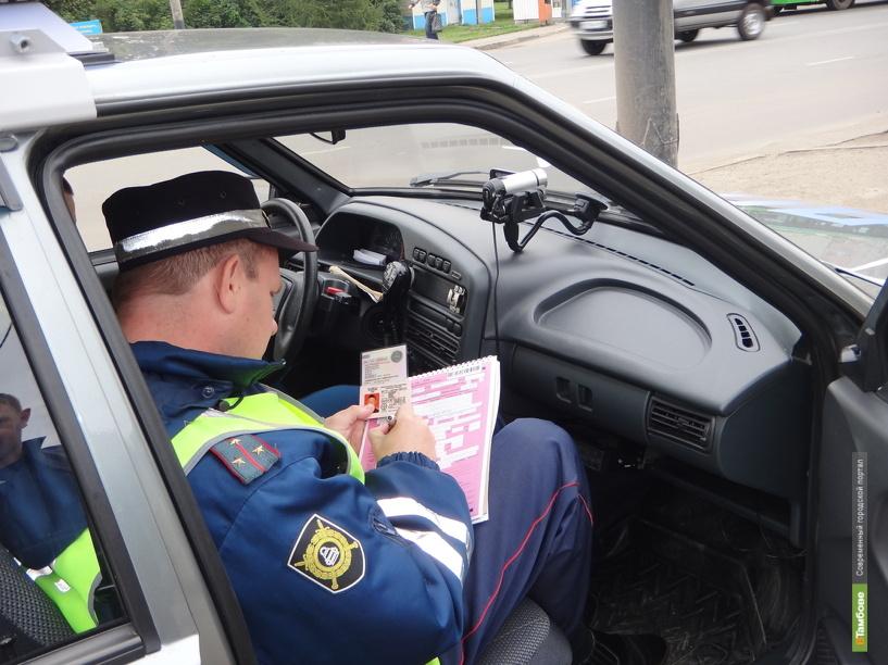 Тамбовские автоинспекторы ловят пьяных водителей