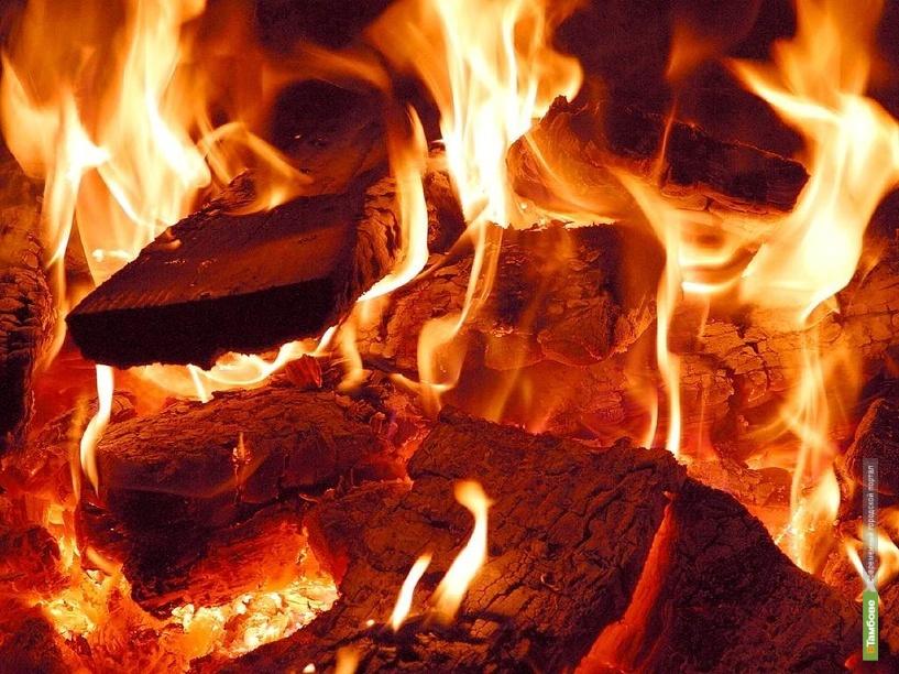 Лесоруб получил ожоги на пожаре
